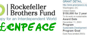 greenpeace rockefeller brothers fund